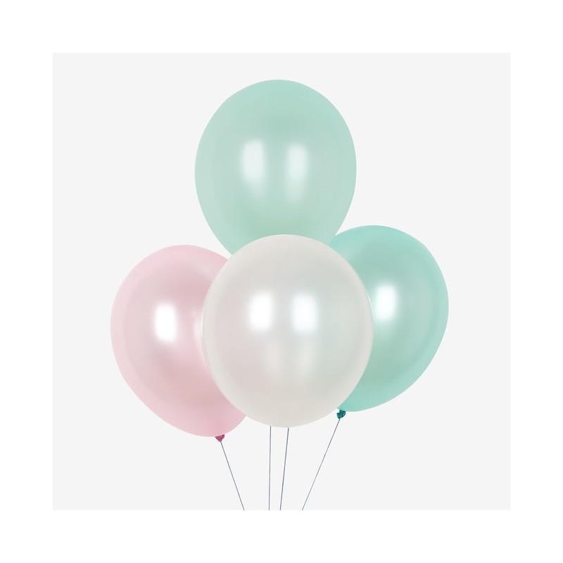My Little Day - 10 Ballons in Meerjungfrauen Farben