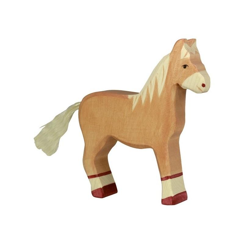 Holztiger Holzfigur Pferd