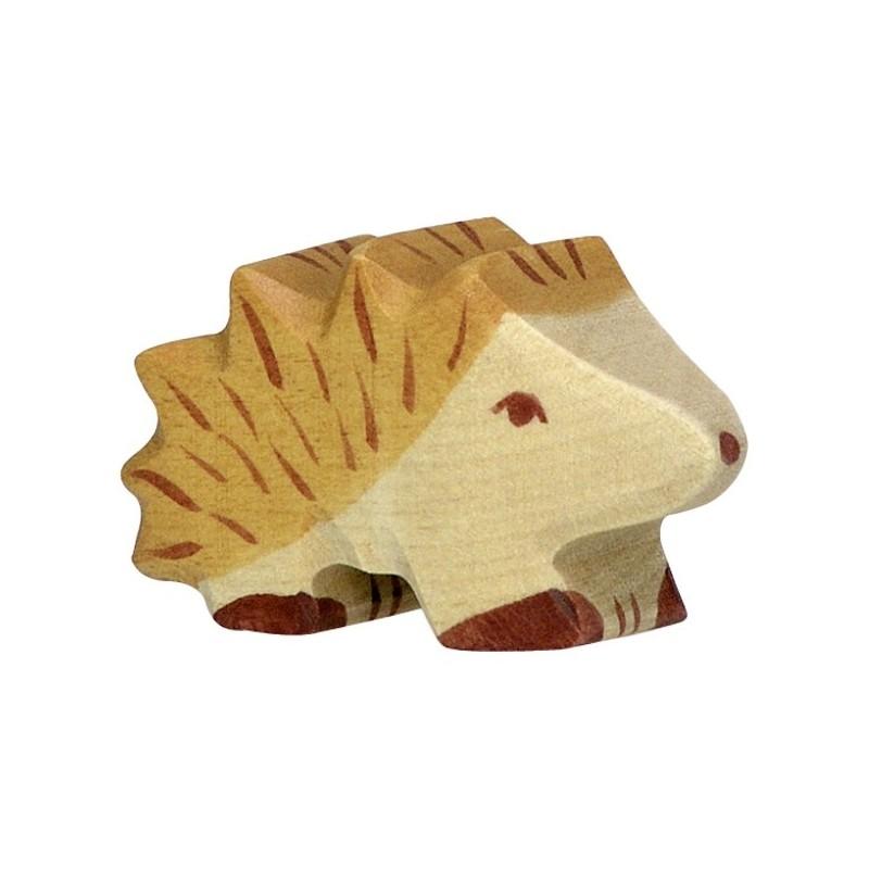 Holztiger Holzfigur Kleiner Igel