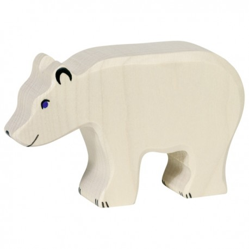 Holztiger Holzfigur Eisbär