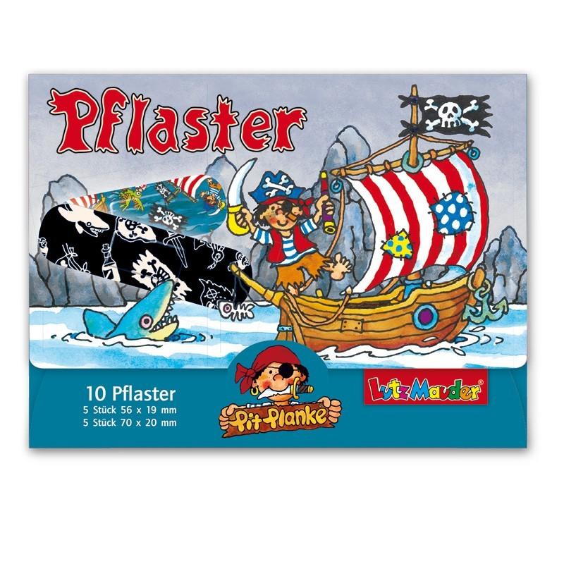 Pflasterbriefchen Pirat Pit Planke von Lutz Mauder