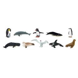 Leben in der Antarktis - Set mit 10 handbemalten Spielfiguren