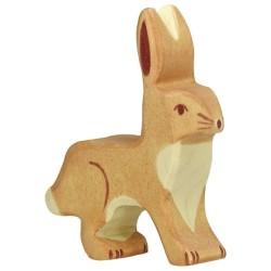 Holztiger Holzfigur Hase