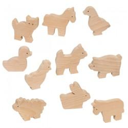 Bauernhoftiere Holzfiguren von Goki