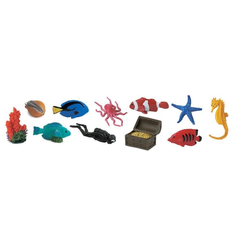 Leben im Korallenriff - Set mit 12 kleinen handbemalten Figuren