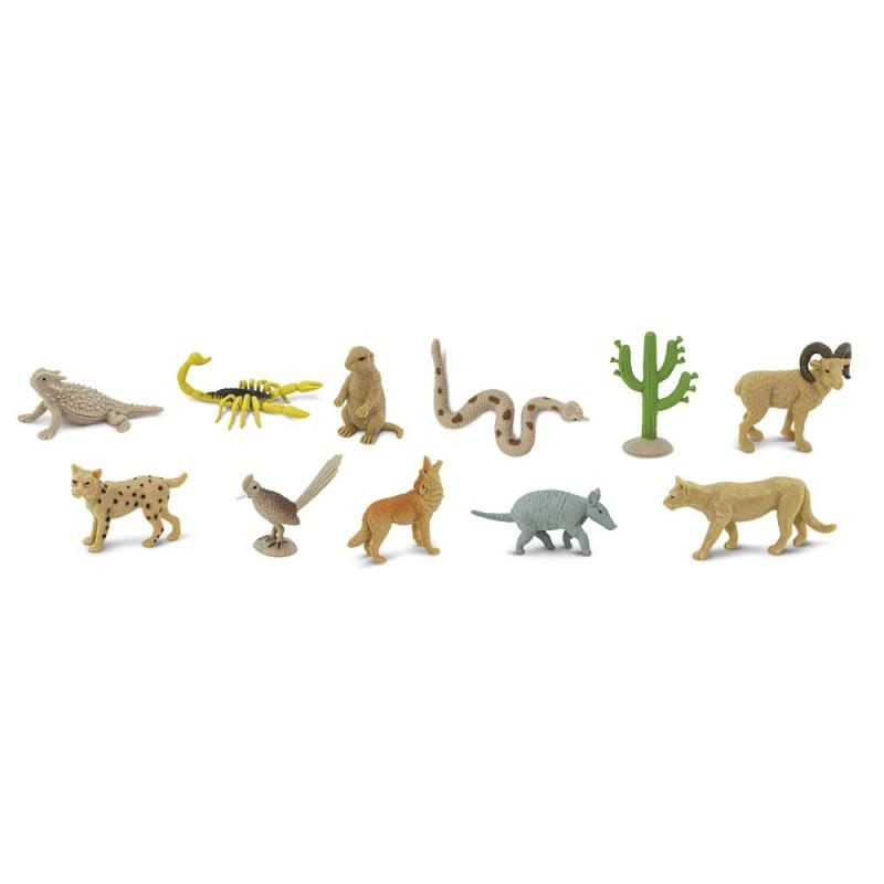 Leben in der Wüste- Set mit 11 kleinen handbemalten Figuren