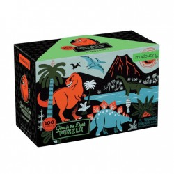 Glow in the Dark Puzzle Dinosaurier mit 100 Teilen
