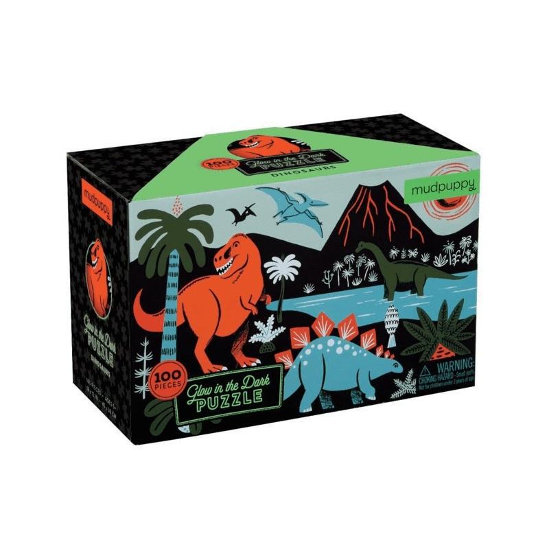 Glow in the Dark Puzzle Dinosaurier mit 100 Teilen