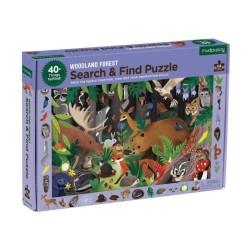 Suche & Finde Puzzle Waldtiere mit 64 Teilen