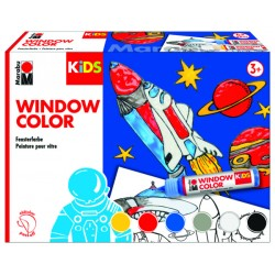 Bastelset Marabu KiDs Window Color Weltall