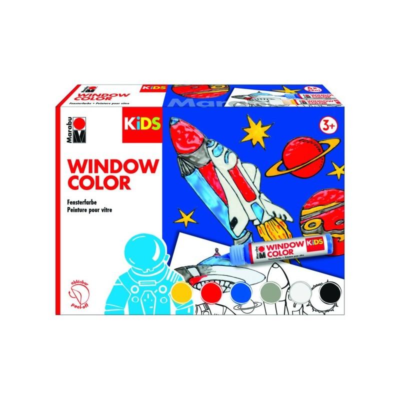Bastelset Marabu KiDs Window Color Weltall