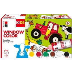 Bastelset Marabu KiDs Window Color Bauernhof