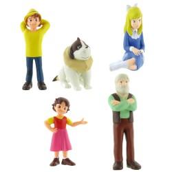 Heidi - Figurenset mit 5 handbemalten Spielfiguren
