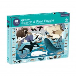 Suche & Finde Puzzle Leben in der Arktis mit 64 Teilen