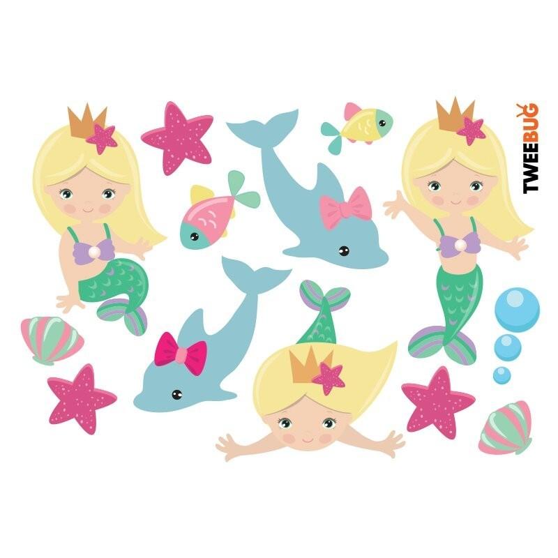 Wasserfeste Sticker Meerjungfrauen von Tweebug