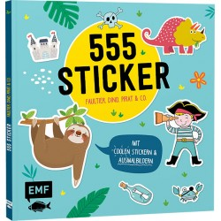 555 Sticker - Faultier, Dino, Pirat & Co.