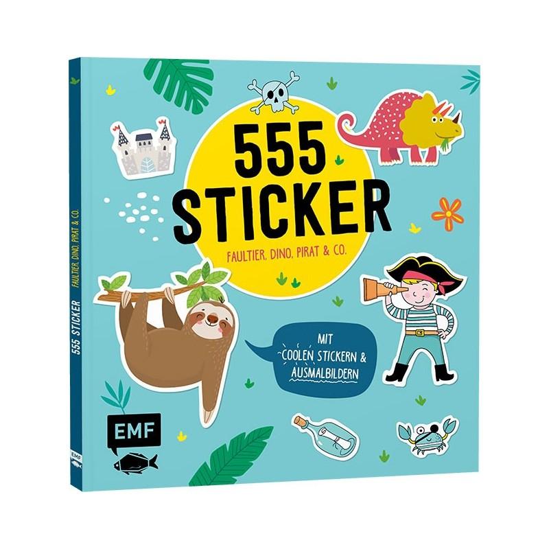 555 Sticker - Faultier, Dino, Pirat & Co.