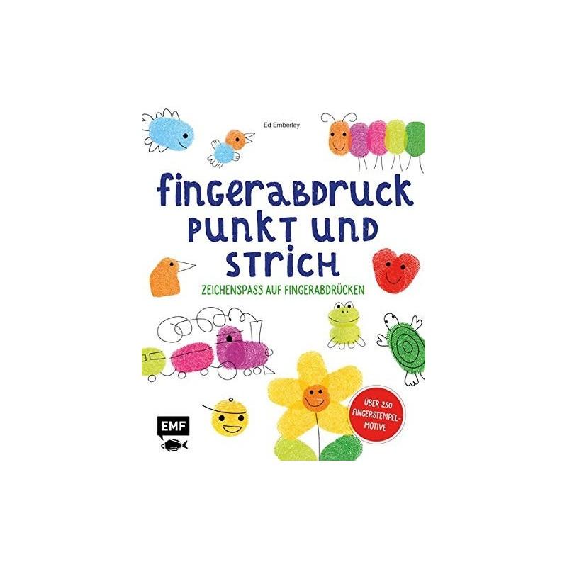 Fingerabdruck, Punkt und Strich - Zeichenspass auf Fingerabdrücken