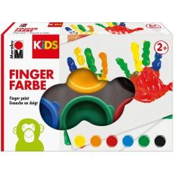 Marabu Kids Fingerfarbe Set mit 6 Farben