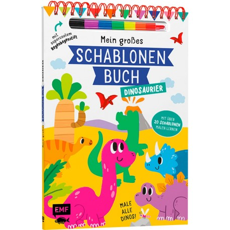 Mein grosses Schablonen Buch Dinosaurier