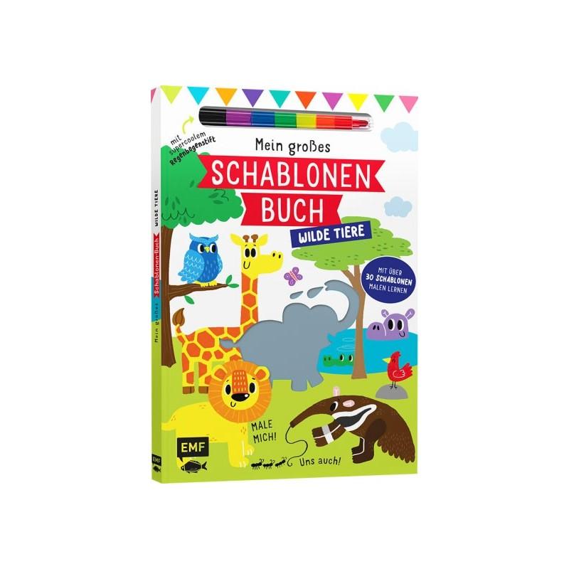 Mein grosses Schablonen Buch Wilde Tiere