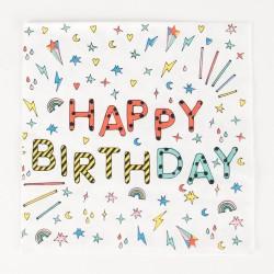 My Little Day - 20 Servietten Happy Birthday
