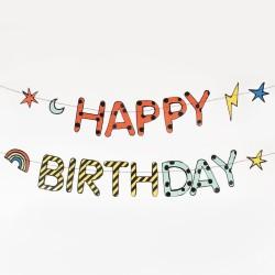 My Little Day - Girlande Happy Birthday