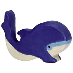 Holztiger Holzfigur Blauwal