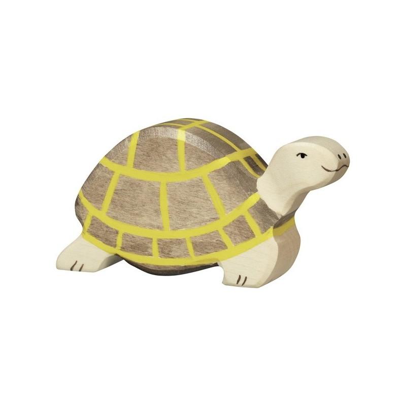 Holztiger Holzfigur Schildkröte