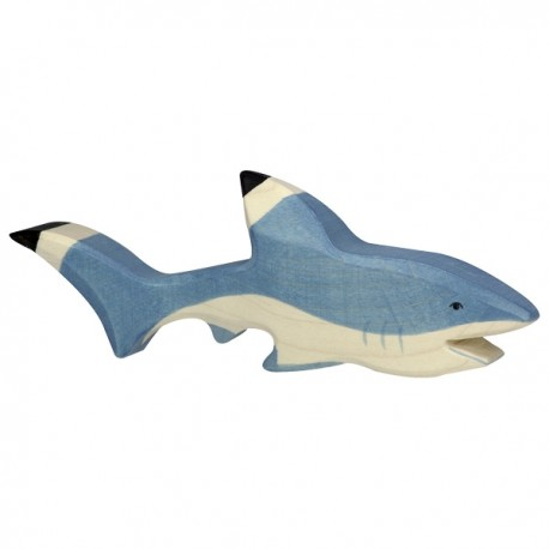 Holztiger Holzfigur Hai