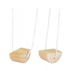 Holzblock Stelzen Wooden Walking Bobbins