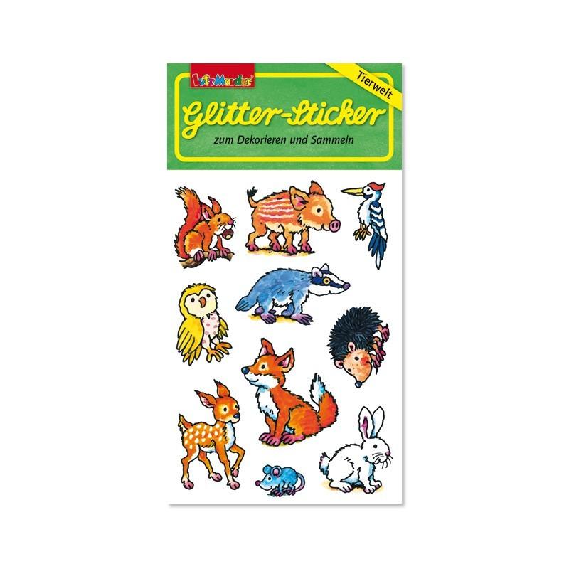 Glitter Sticker Waldtiere von Lutz Mauder