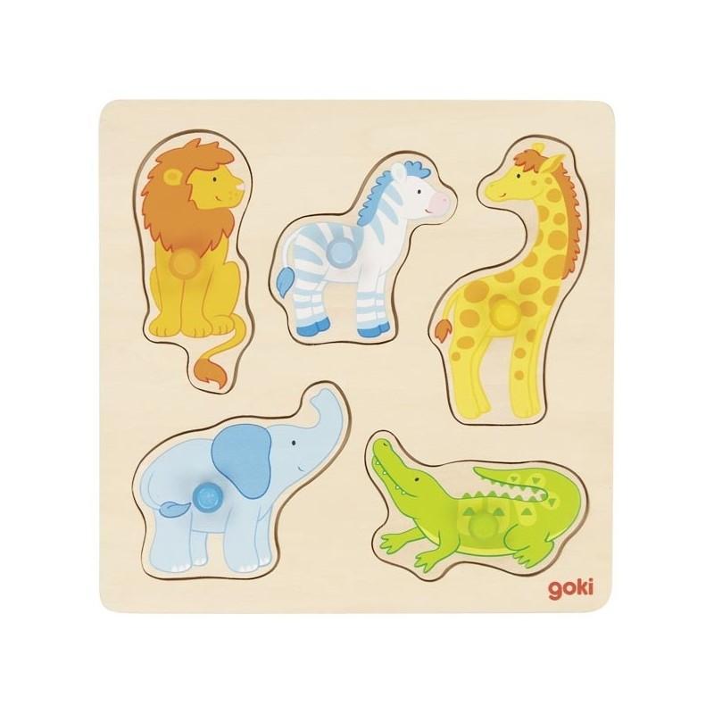 Steckpuzzle Auf Safari von Goki