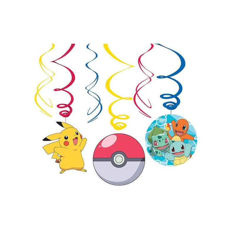 Dekospiralen Pokémon von Amscan