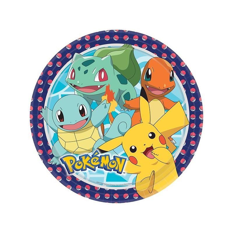 Pappteller Pokémon von Amscan