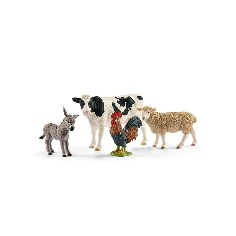 Schleich Bauernhof Farm World Set mit 4 Schleich Tieren