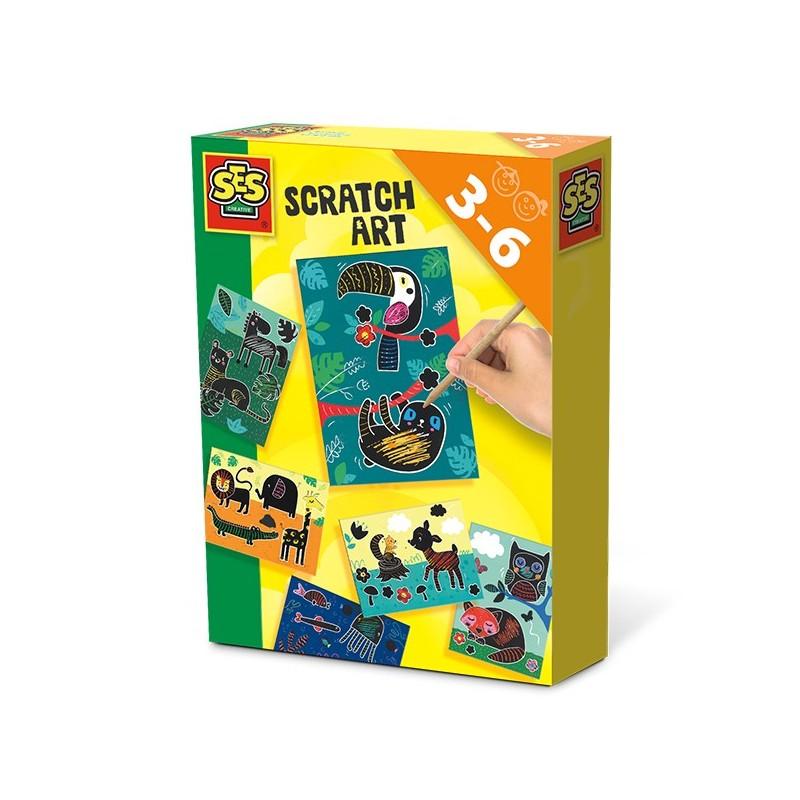 Kratzbilder Scratch Art Tiere von SES creative