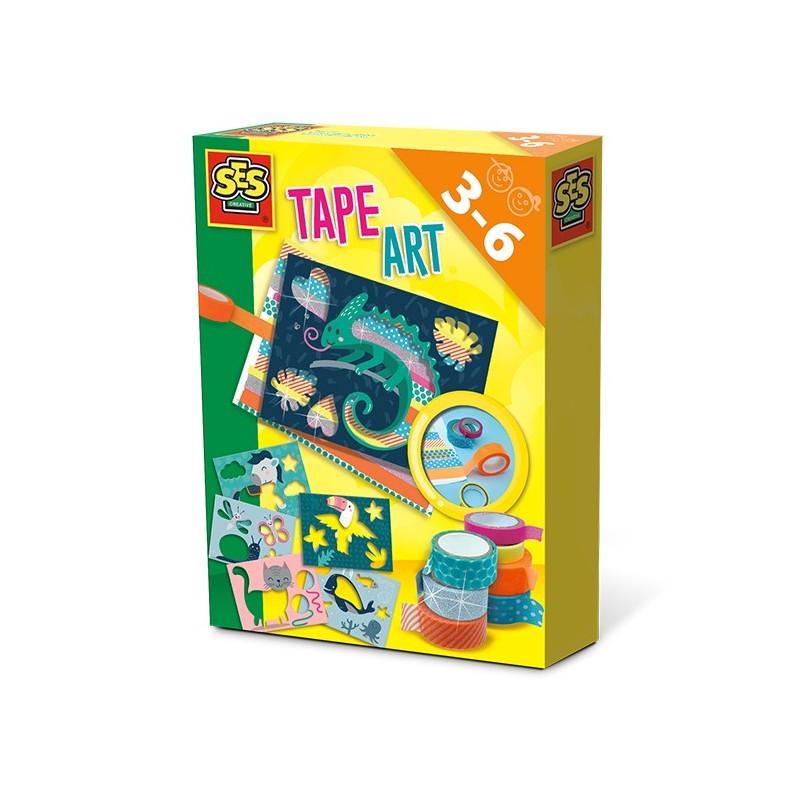 Tape Art Bastelset buntes Klebeband Tiere von SES creative