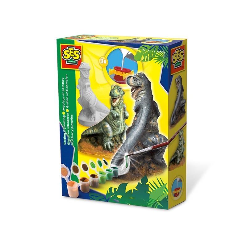 T-Rex Dinosaurier Gipsfigurenset von SES creative