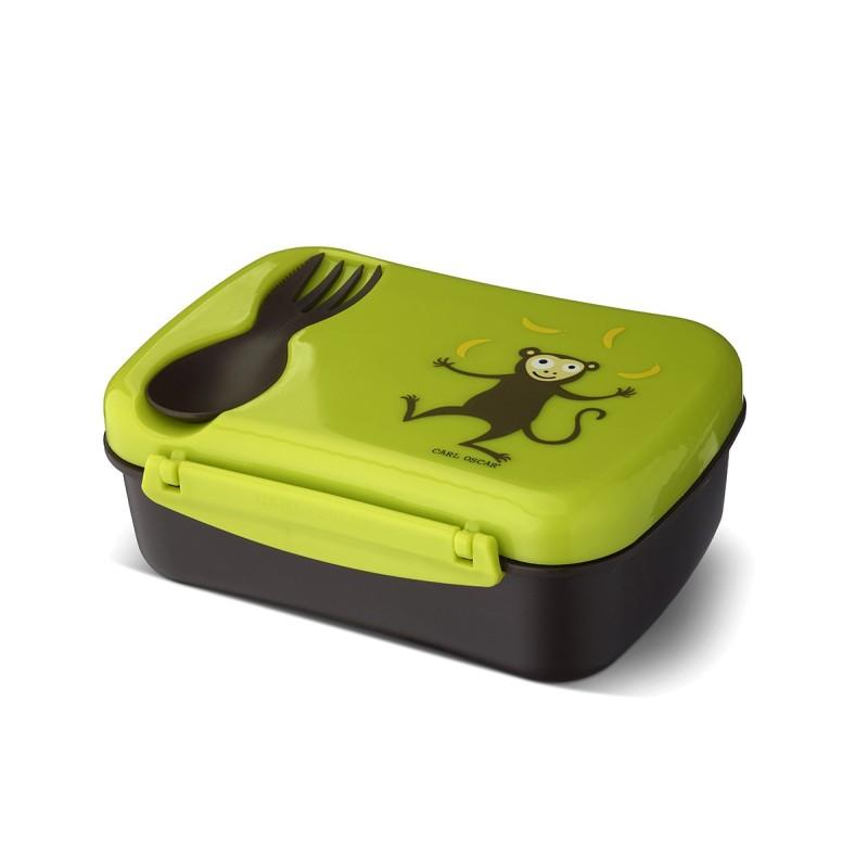 Nice Box Affe die auslaufsichere Znünibox mit Kühlakku & Besteck von Carl Oscar