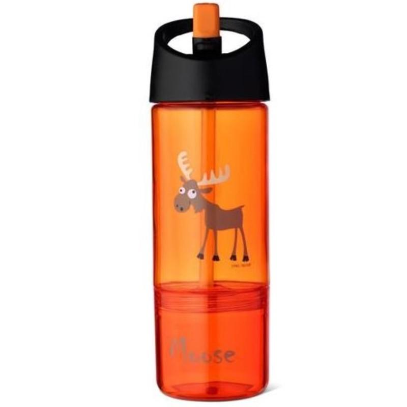 Trinkflasche 2 in 1 Elch mit Snackbox von Carl Oscar