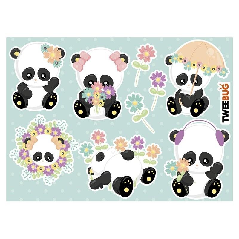 Wasserfeste Sticker Pandas von Tweebug