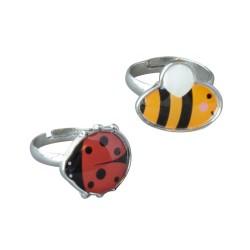 Kinder Ring Set Biene und Marienkäfer