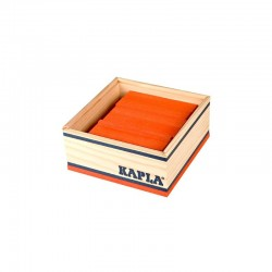 Kapla Baukasten mit 40 Holzplättchen in orange