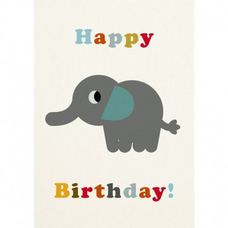Geburtstagskarte Elefant Happy Birthday