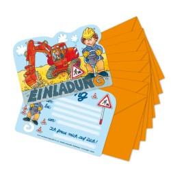 Einladungskarten Bagger und Baustelle vom Lutz Mauder Verlag