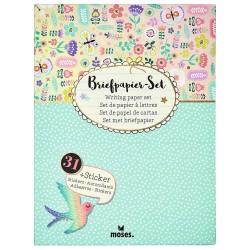 Flowers & Friends Briefpapier Set