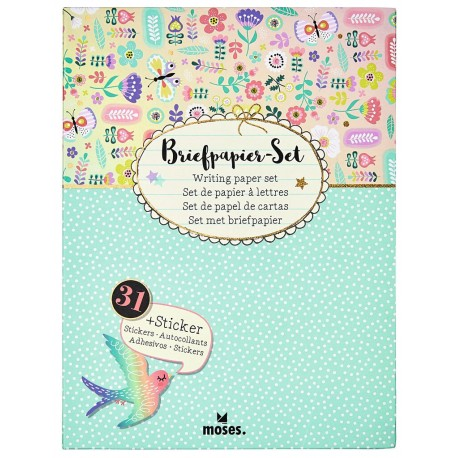 Flowers & Friends Briefpapier Set