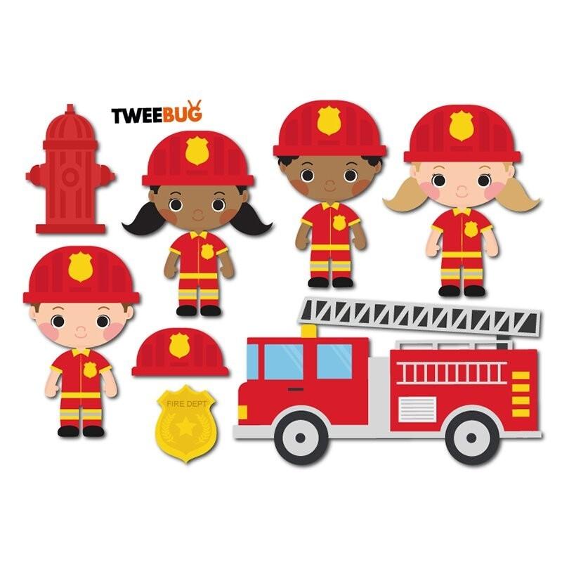 Wasserfeste Sticker Feuerwehr von Tweebug