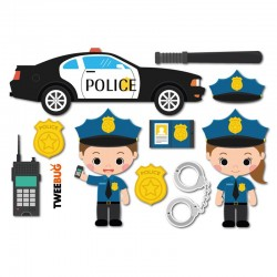 Wasserfeste Sticker Polizei von Tweebug